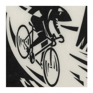 Alpine Descent Cycling Print by Andrew Pavitt