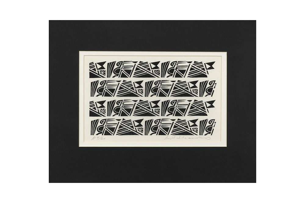 Angel of the Mountains Cycling Print – Andrew Pavitt