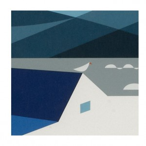 Blue Rider Cycling Print by Andrew Pavitt