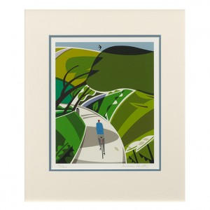Lost Lanes Cycling Print - Andrew Pavitt