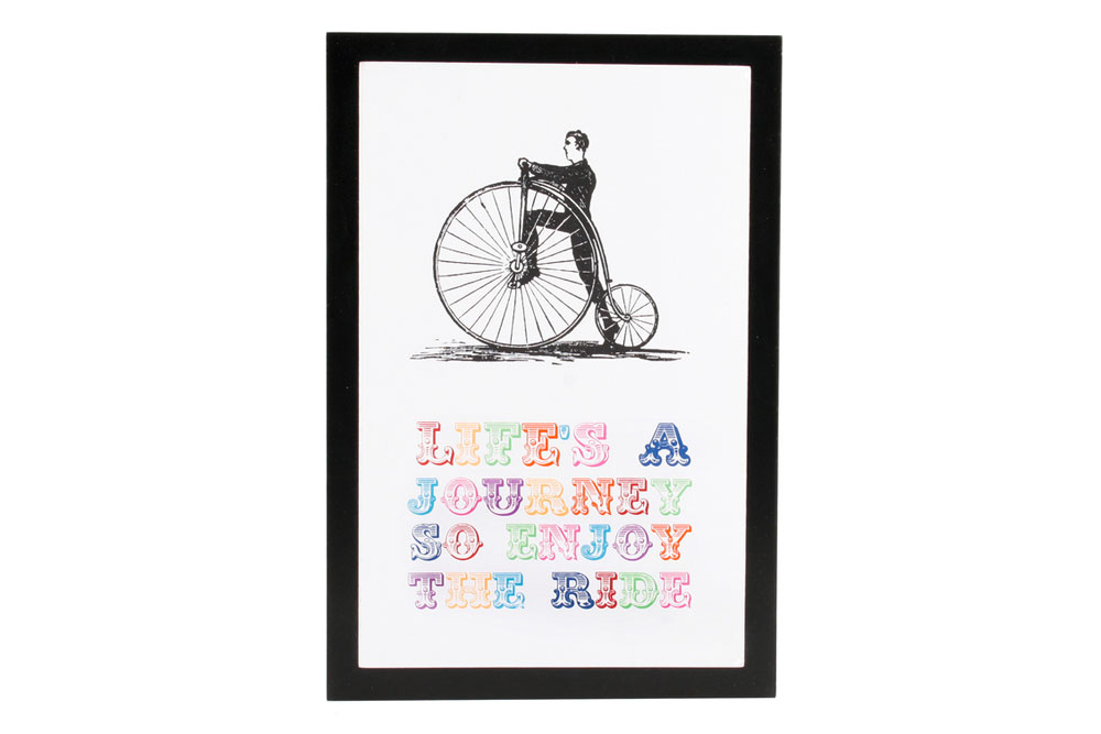 Penny Farthing Bicycle Screen Print