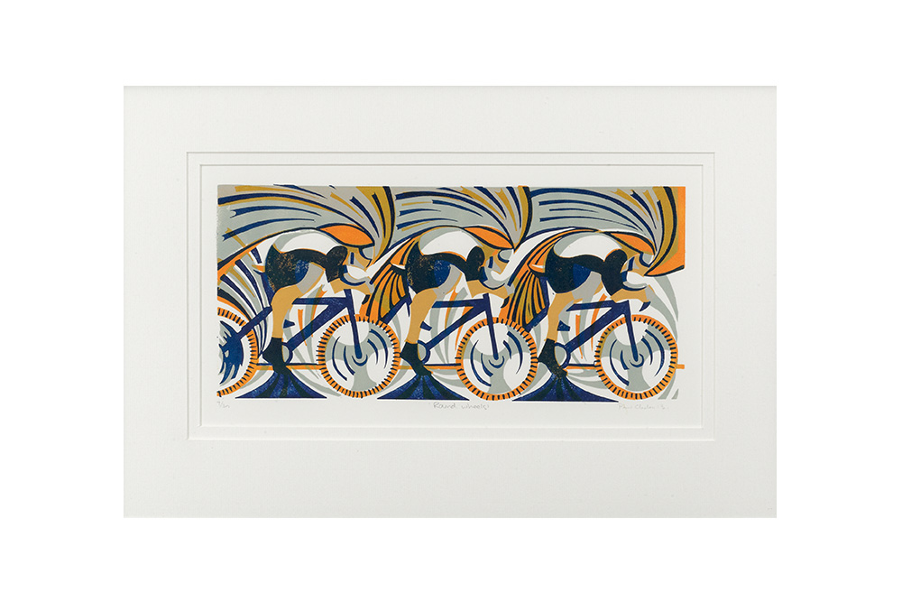 Round Wheels Cycling Print – Paul Cleden