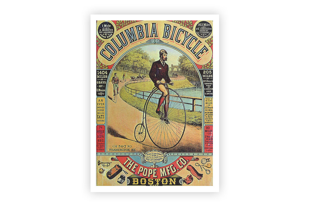 Columbia Penny Farthing Print