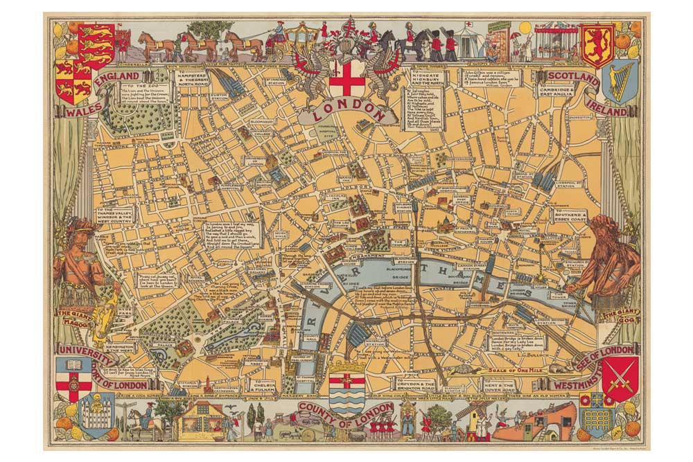 Map of London Wrapping Paper | CycleMiles