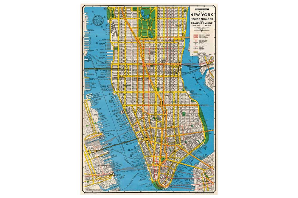 Map of New York Wrapping Paper