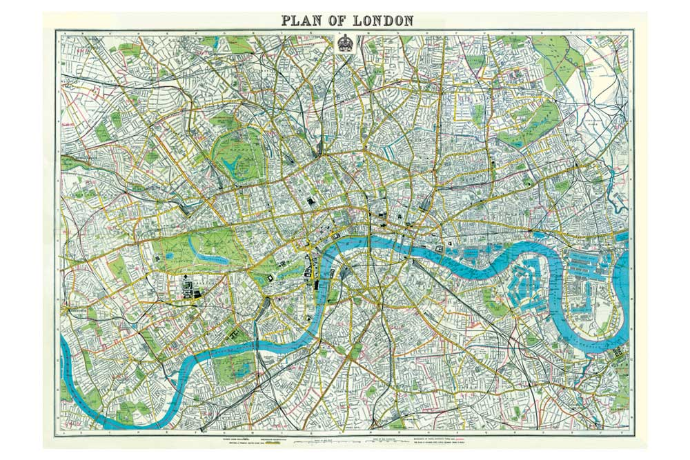 Plan of London Wrapping Paper