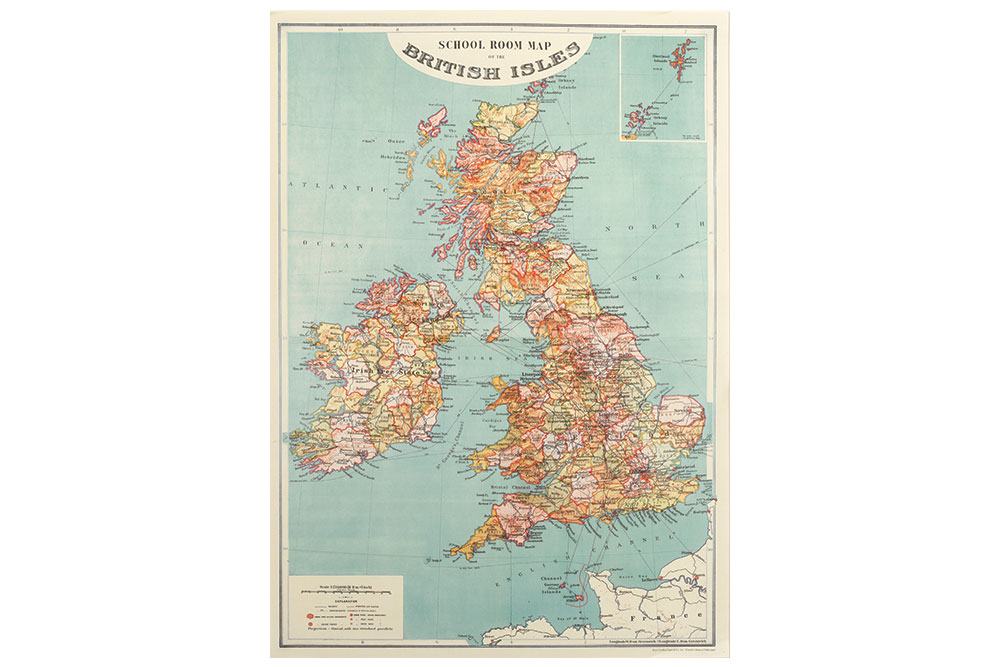 Map of British Isles Wrapping Paper