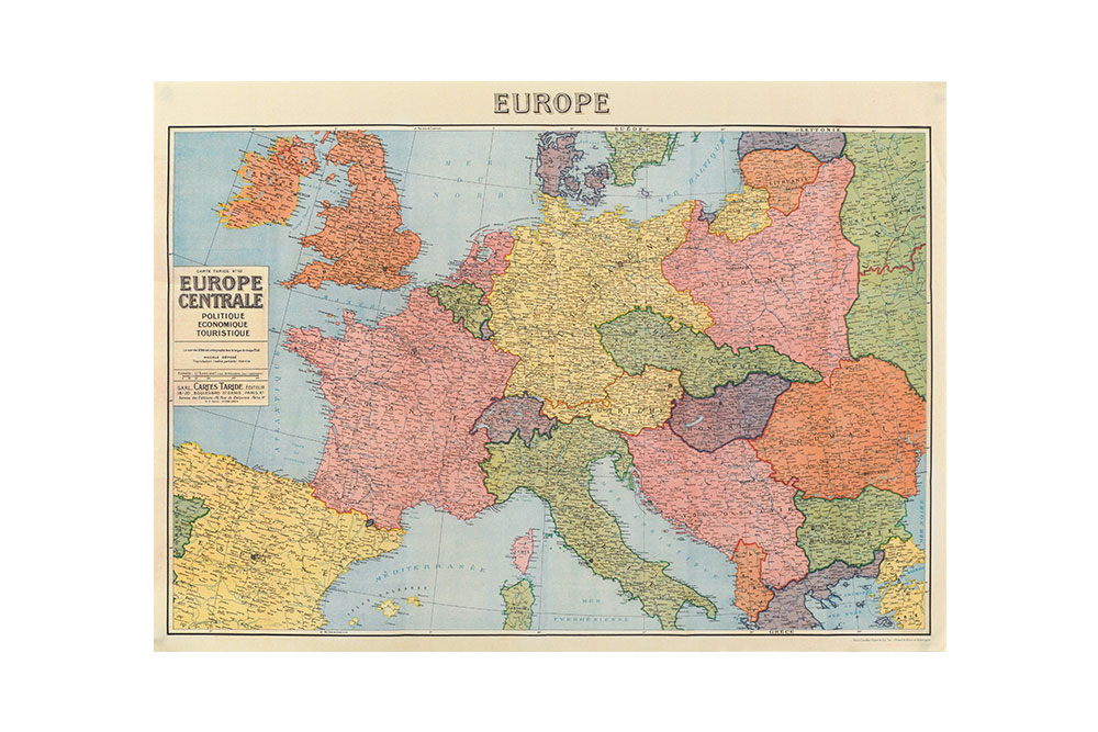 Map of Europe Wrapping Paper