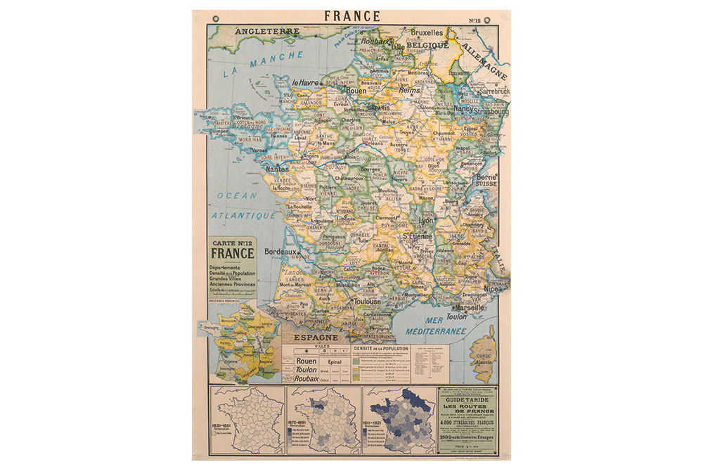 Map Of Uk France.Map Of France Poster Paper Cyclemiles