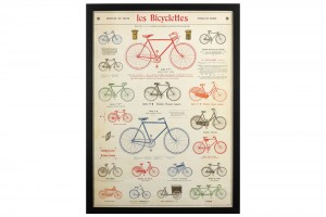 les-bicyclettes-wrapping-paper-in-frame