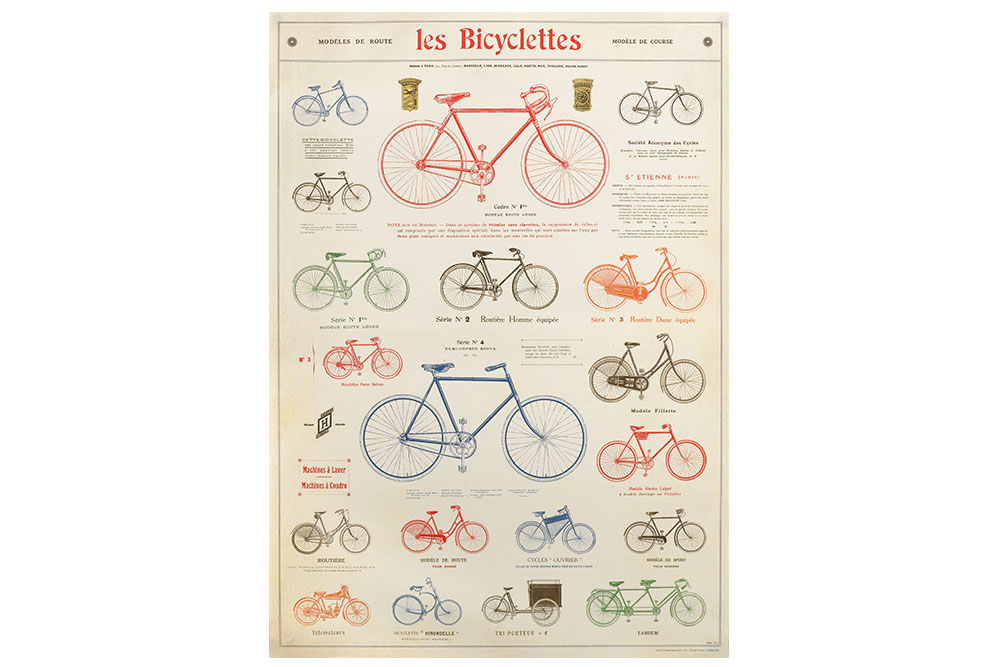 Les Bicyclettes Poster Paper